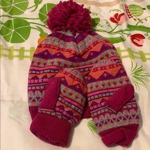 Gap girls hat and gloves